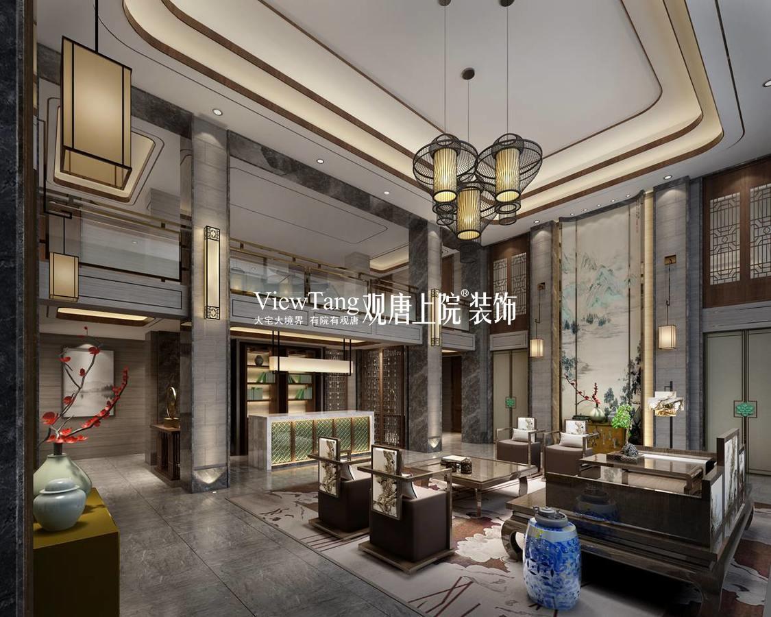 中海名門(中式)別墅裝修效果圖