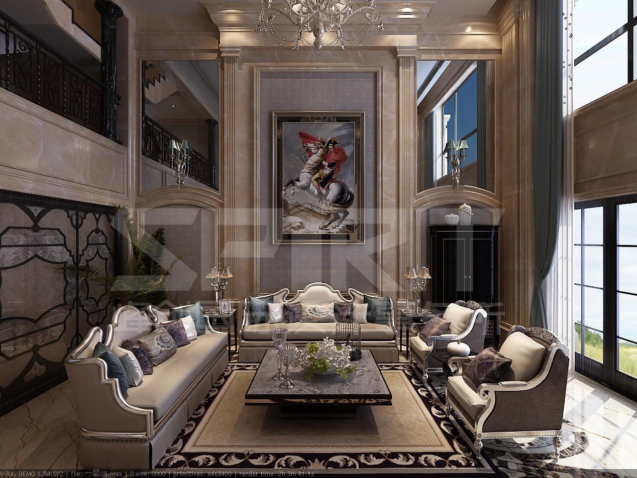麦岛金岸800平米欧式古典独栋别墅装修案例作品【设计