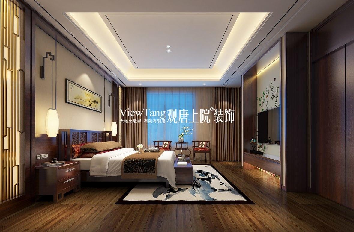 博大楼一号(新中式)别墅装修效果图
