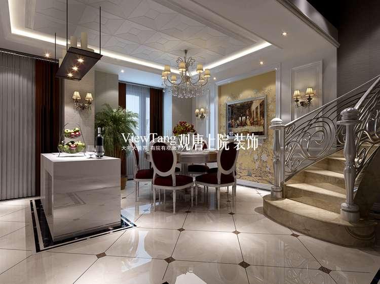 265平欧式古典别墅装修效果图之餐厅
