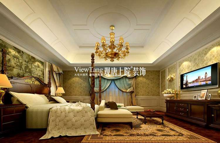 苏州400平欧式古典别墅装修效果图之卧室