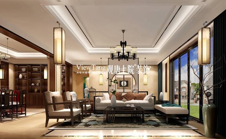 380平新中式别墅装修效果图,完美突显房子气势