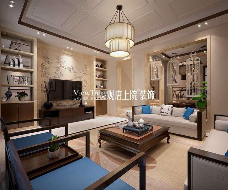 320平新中式别墅装修效果图