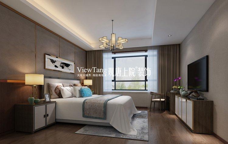 楼盘名称:花样年禧悦 装修面积:196平米 家装风格:新中式 设计师:杨图片