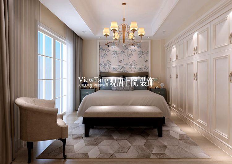 欧式古典别墅装修效果图之卧室3