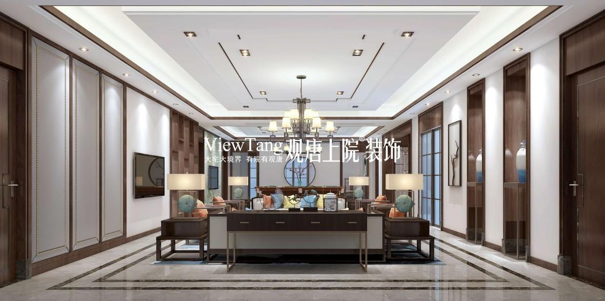 别墅装修 新中式风格 碧桂园 别墅